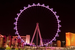 Las Vegas, Nevada by High Roller Ferris Wheel in Sleepless