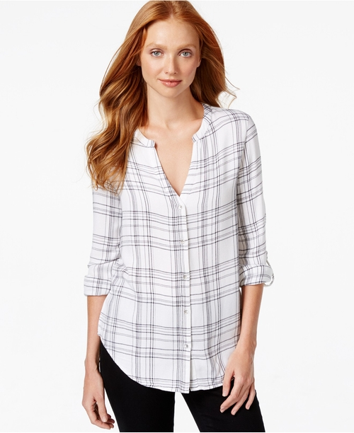 V-Neck Plaid Shirt by Calvin Klein Jeans in Dirty Dancing