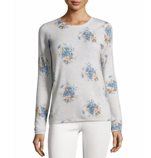 Feronia Cashmere Floral-Print Sweater by Joie in Unbreakable Kimmy Schmidt - Season 3 Episode 1