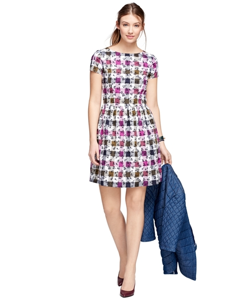 Cotton Gingham Dress by Brooks Brothers in Supergirl - Season 1 Episode 17