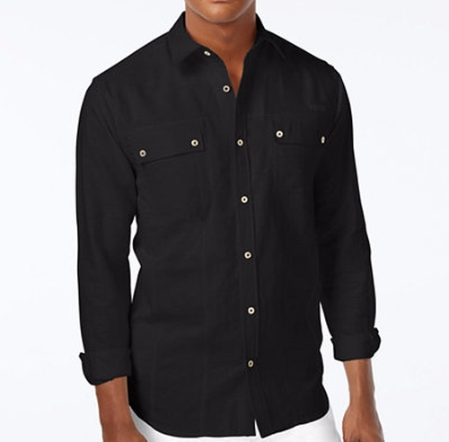 Lightweight Linen Long-Sleeve Shirt by Sean John in Hell or High Water