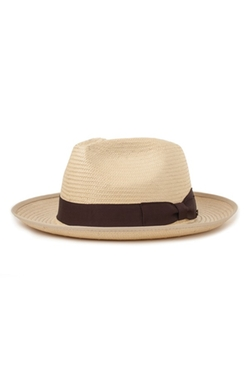 'Spade' Straw Fedora Hat by Brixton in Chi-Raq