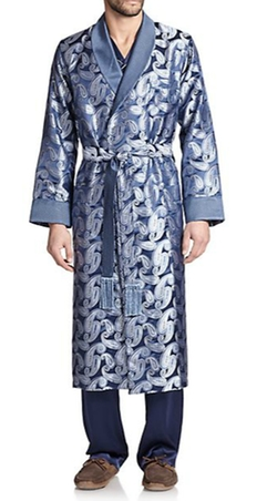 Printed Silk Robe by Derek Rose in Ride Along 2