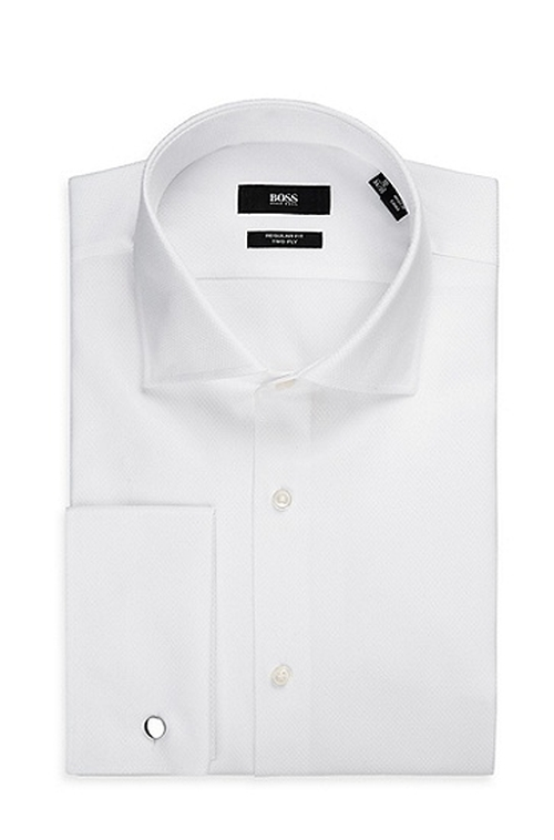 French Cuff Dress Shirt by Boss Hugo Boss in Suits - Season 5 Episode 7