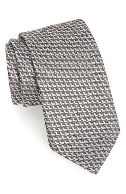 Geometric Silk Tie by Ermenegildo Zegna in Wedding Crashers