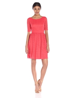 Lace Fit-And-Flare Dress by Jessica Simpson in Scandal