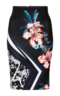Modern Romance Fitted Midi Skirt by Clover Canyon in Pretty Little Liars