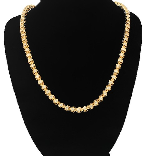 Diamond Tennis Chain Necklace by Avianne Jewelers in Ballers
