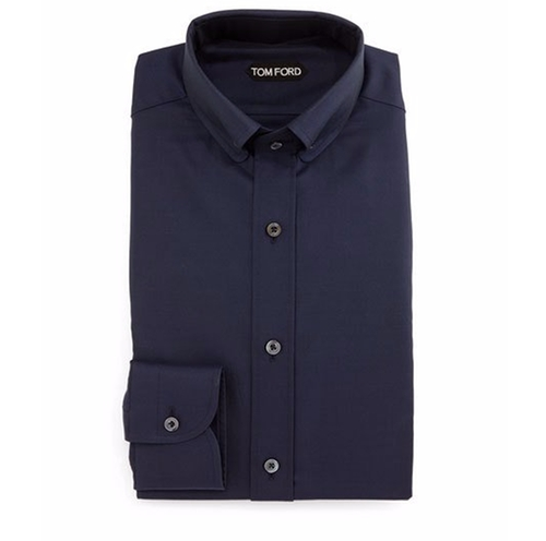 Button-Down Collar Solid Shirt by Tom Ford in John Wick: Chapter 2