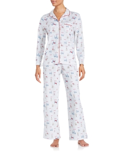 Dog Printed Pajama Set by Karen Neuburger in Jane Got A Gun