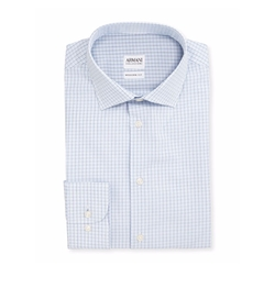 Modern Fit Shadow-Check Dress Shirt by Armani Collezioni in The Good Place