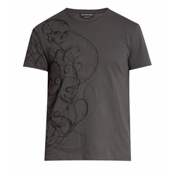 Skull Print Jersey T-Shirt by Alexander McQueen in Shadowhunters
