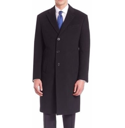 Long Sleeve Wool-Cashmere Coat by Armani Collezioni in Logan