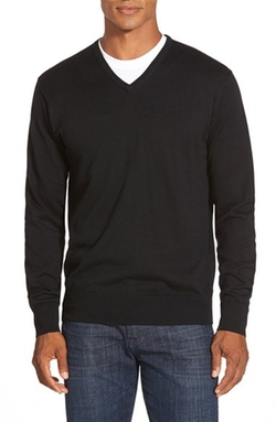 Silk Blend V-Neck Sweater by Peter Millar in Legally Blonde