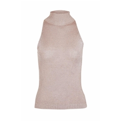 Sleeveless Metal Yarn High Neck Knitted Top by Topshop in Marvel's Runaways