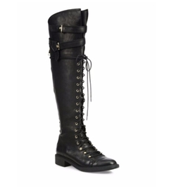 Gryffin Tall Leather Combat Boots by Joie in Mr. Robot