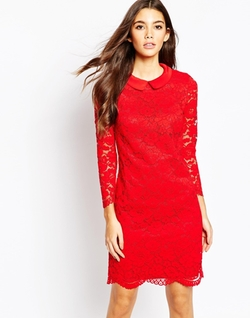 Ameera Scallop Hem Lace Dress by Ted Baker in The Big Bang Theory