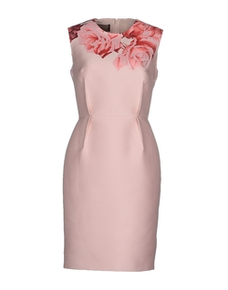 Rose Print Cotton Dress by Giambattista Valli in Suits