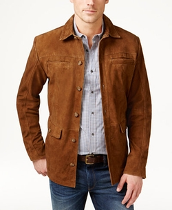 Men's Suede Jacket by Tasso Elba in Logan