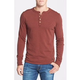 Camper Long Sleeve Slub Cotton Henley Shirt by Jeremiah in Captain America: Civil War