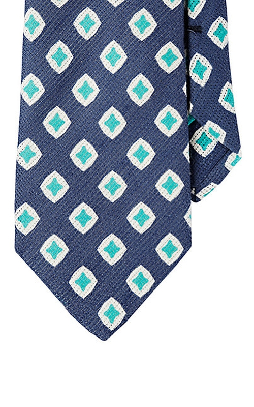 Diamond-Print Silk Tie by Barneys New York in Elementary - Season 4 Episode 6