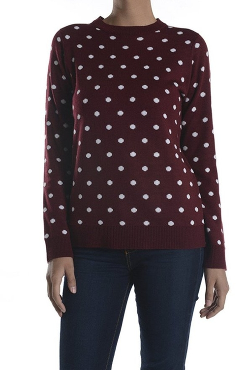 Polka Dot Long Sleeve Sweater by Mak in Supergirl