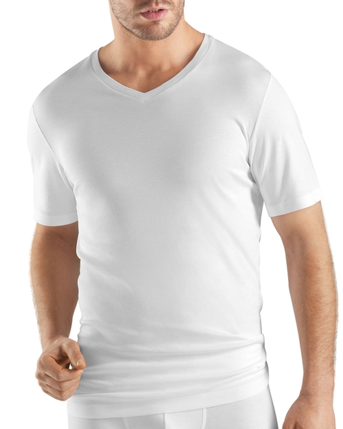 Sea Island Cotton V-Neck Tee by Hanro in Suits
