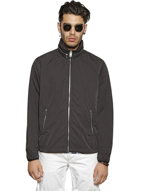 Nylon Windbreaker Jacket by Diesel in We Are Your Friends