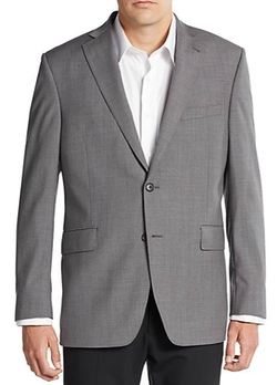 Slim-Fit Two-Button Wool Sportcoat by Saks Fifth Avenue in Rosewood