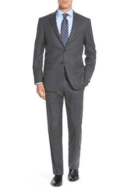 New York Classic Fit Solid Wool Suit by Hart Schaffner Marx in Ballers