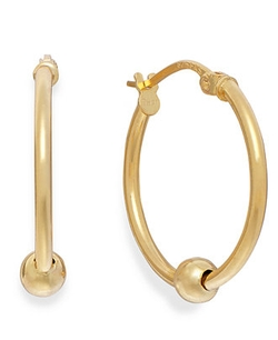 Beaded Hoop Earrings by Giani Bernini in Pitch Perfect 2