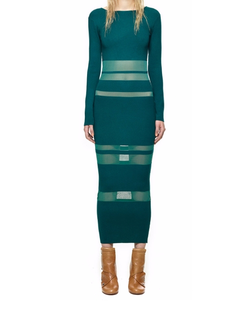 Sheer Striped Intarsia Dress by Self-Portrait in Keeping Up With The Kardashians - Season 12 Episode 1