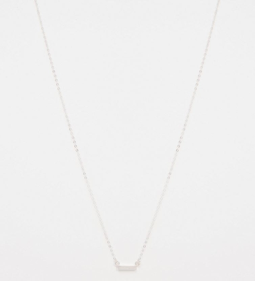 Tiny Bar Necklace by Stella & Bow in Arrow - Season 4 Episode 4