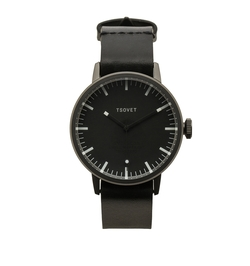 SVT-SC38 Leather Strap Watch by Tsovet in Quantico