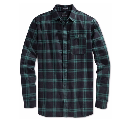 Watts Plaid Long Sleeve Button-Front Shirt by Tavik in Animal Kingdom - Season 1 Episode 7
