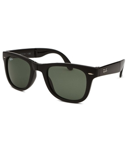 Square Folding Classic Black Sunglasses by Ray-Ban in Ballers