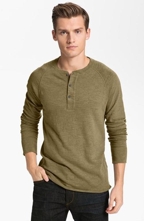 Raglan Henley Shirt by Rag & Bone in Jessica Jones - Season 1 Episode 12