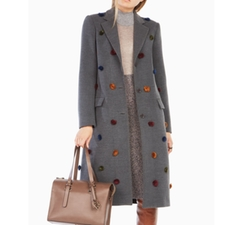 Jaxson Pom-Pom Coat by BCBGMAXAZRIA in Arrow