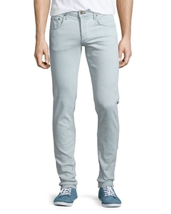 Bleached Slim-Fit Denim Jeans by Rag & Bone in Empire