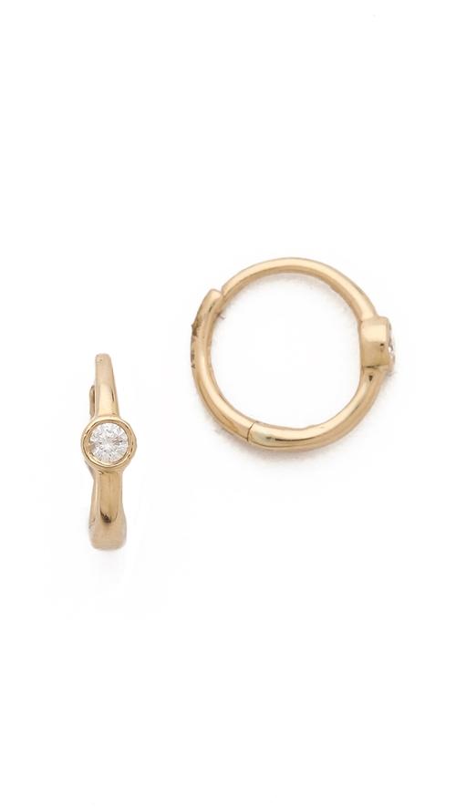 Mini Huggie Bezel Earrings by Ariel Gordon Jewelry in Empire - Season 2 Episode 1