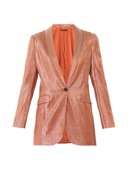 Liquid Lamé Tailored Jacket by Gucci  in Pretty Little Liars
