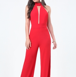 Deep Plunge Halter Jumpsuit by Bebe in The Flash