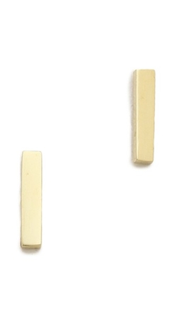 Bar Stud Earrings by Jennifer Meyer in Suits