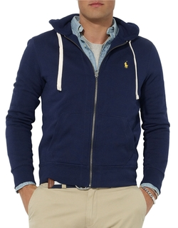 Full Zip Fleece Hoodie by Polo Ralph Lauren in Silicon Valley