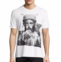 Tattooed Statue Graphic T-Shirt by Neil Barrett in Ballers