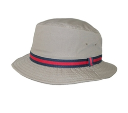 Men's British Tan Bucket Hat by Dorfman Pacific in Gold