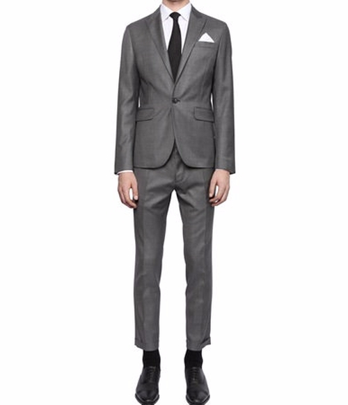 Tokyo Light Wool Gabardine Suit by Dsquared2 in Empire