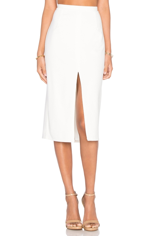 Center Slit Knit Pencil Skirt by Blaque Label in Rosewood - Season 1 Episode 22