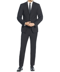 Two-Piece Black Stretch Wool Slim-Fit Suit by DKNY in New Girl