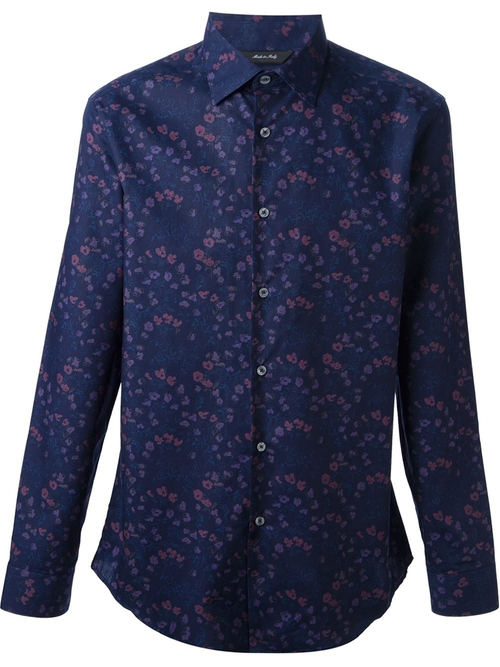 Byard Navy London Floral Shirt by Paul Smith in Jessica Jones - Season 1 Episode 7